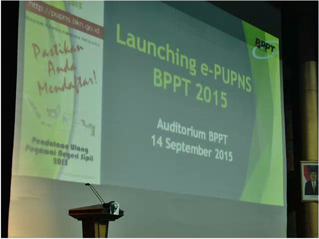 Launching e-PUPNS di BPPT
